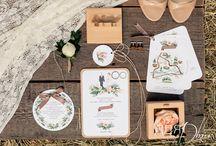 Rustic wedding / Невеста Наташа — ценитель высокой кухни, поэтому для свадьбы была выбрана кулинарная тематика. Мы вывели свою теорию и нашли закономерности между любовью Наташи и Юры и кулинарным искусством.