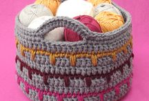 crochet baskets and bags