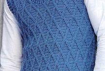 Crochet Men's vests
