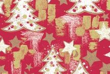 Wrapping Paper with Christmas trees / Collection of wrapping paper with Christmas trees