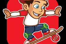 Crazy Skater Boy / Crazy skater boy is a free game with a lot of challenge and levels to Unlock. HOW TO PLAY: It's very easy, tap to jump and you need to avoid different obstacles and collect a lot of cherries by running and jumping, greatest Skating adventure! There is more than 100 challenging Levels, you have to unlock all levels. Crazy Skater boy suitable for all ages.