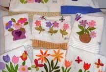 aplicações em toalhas