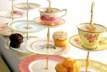 tea cups/cake plates