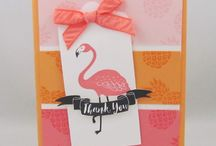 Stampin' Up! Thank you Cards / Hand stamped thank you cards using Stampin' Up! stamp sets.