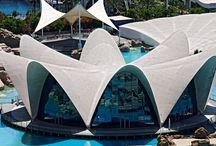 Fotos aéreas Rte. Submarino / Fotos aéreas de la arquitectura del restaurante Submarino del Oceanogràfic.