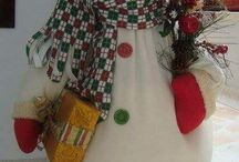 paper clay christmas snow man