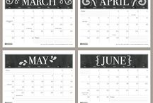 Calendar and other printables