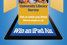 LibQUAL 2016 / Anglia Ruskin University Library's publicity for their Library survey 2016