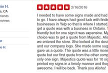 Sign Reviews / Don't take our word for it...hear what our customers have to say about our signage offerings.