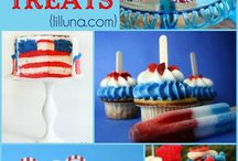 Red, White, and Blue Recipe Ideas! / Red White and Blue recipes from around the web