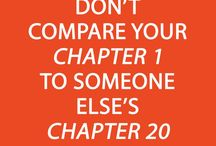 The Love Quotes Life Quotes : Don't compare your chapter 1 to someone else's chapter 20 [Click image f…