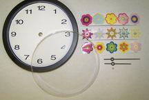 kid party clock DIY