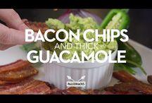 Bacon chips and Avacado