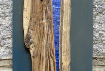 Mosaic with driftwood