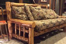 Canapele si fotolui din lemn rotund