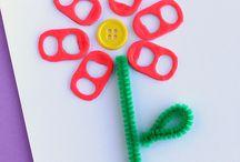 pop tab flowers