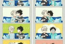 Yuri on ice cute comics