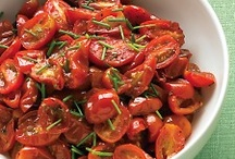 oven roasted grape tomatoes with chives