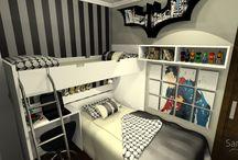 Dormitório Menino / Dormitório feito com moveis planejados Sandrin.
