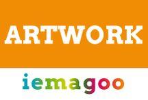 Artwork / Artwork zoals gebruikt door iemagoo in mailings of op websites.