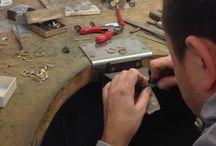 Capucinne working process / #goldsmithing #goldsmiths #jewellery #rings # diamonds #necklace #bracelet #brushing #polishing