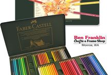 Colored Pencils & Markers / Some popular colored pencils ones are the Faber-Castell Polychromos pencils, Prismacolor pencils, Stabilo markers, Milan colored pencils and Gel Pens.