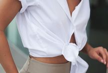 Sth to wear: the white shirt.