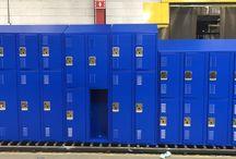 Moreno Valley HS - Moreno Valley, CA #DeBourgh #Lockers / #Corregidoor #BlueHammer #SentryThreeLatch #LouveredVentilation #PianoHinge #SlopTop #DiamondPerforation #Lockers #DeBourgh