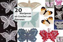 mariposas a chochet