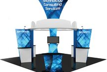 Island Exhibit Booths / Custom made island exhibit booths for trade show exhibits.