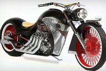 Custom motorcycles / Bobbers, choppers, sidecars, racers