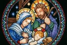 Cross stitch Nativity