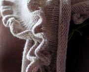 Knitting scarves, shawls, ponchos