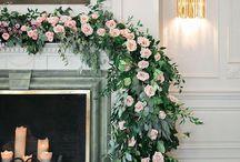 Wedding Fireplace Mantle Decor