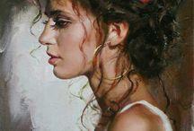 Инесса и Михаил Гармаш / Романтические импрессионисты супруги Гармаш родом из Луганска пишут вместе и часто изображены на своих картинах со своей дочерью Полиной