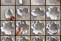 Flori de hârtie panou