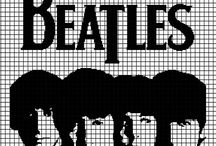 beatles art (knitting,  illustr., art)