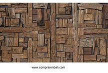 mosaico de madera reciclada / Diseño, producción y fabricación exclusiva y ecológica por www.comprarenbali.com