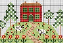 huisjes borduuren