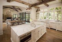 Modern kitchen white and wood