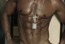 Black Goldchained / Beautiful Black Men with chains and jewels in gold.