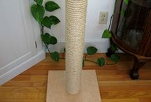 Wood Cat Scratching Posts and Cat Furniture / Solid wood, sisal and manila cat scratching posts and furniture.