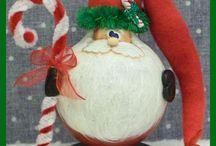 Kerstman van gloeilamp