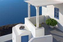 Greek island houses