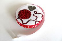 Fabric Covered Tape Measures / These are great fun to make! have an idea? Ask me!