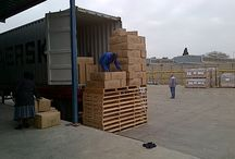 Loading for delivery / Canvas and tent on the move again to deliver to our valued customer