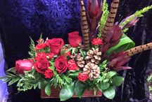 Christmas fresh flower bouquets
