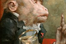 Monkeys and apes in art