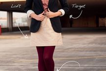 Outfit ideas - burgundy, pink