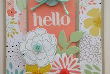 Stampin up - secret garden stamps/thinlets